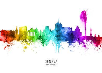 Geneva Switzerland Skyline