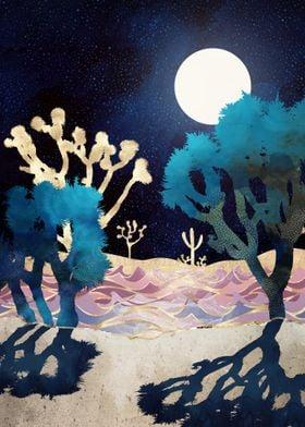 Desert Lake Moonlight