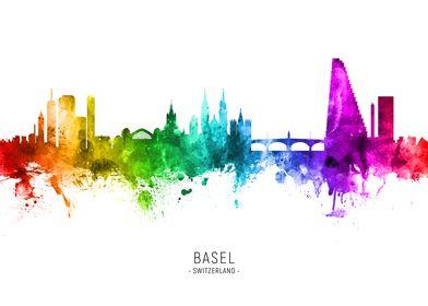 Basel Switzerland Skyline