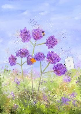 Verbena in the Meadow