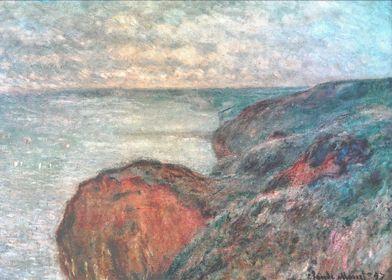 Cliff near Dieppe Cloudy