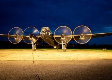 Lancaster Engine Run