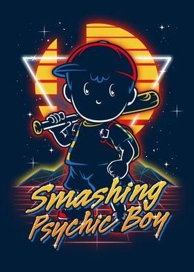 Retro Smashing Psychic Boy