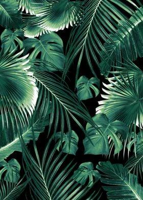 Tropical Jungle Leaves 6