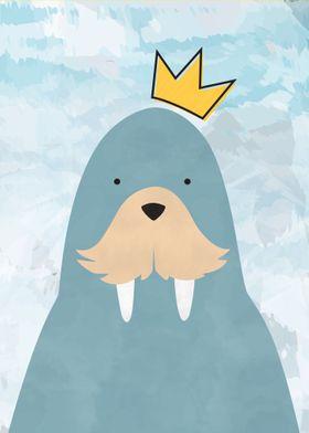 Cute King Walrus