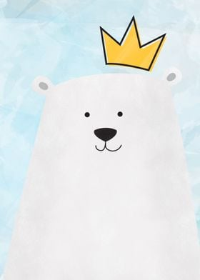 Cute King Polar Bear