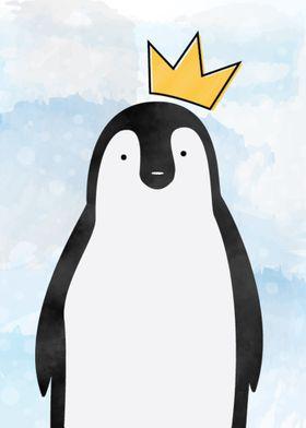Cute King Penguin