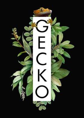 Crested Gecko Jungle Print
