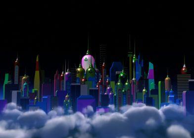 Sickle Moon City Night