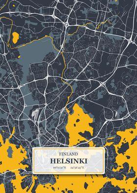 Helsinki Finland City Map