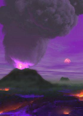 Exoplanet Volcano