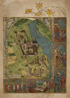 Sasau Monastery Map
