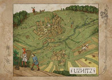 Uzhitz Map