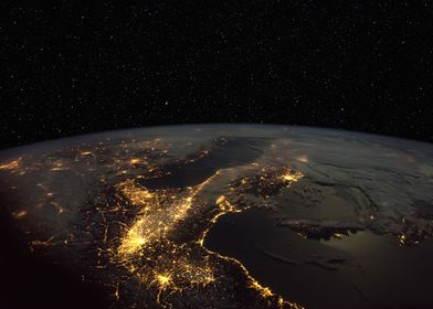 Italy from Space at Night