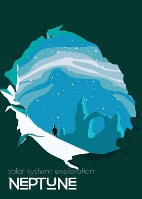 Neptune travel poster