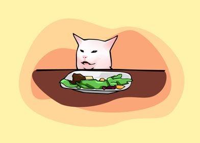 Confused Cat Meme Cartoon