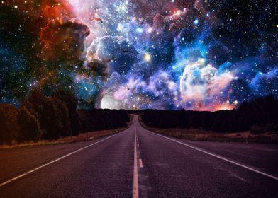 Night Space Nebula