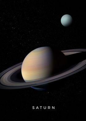 Planet Saturn and Uranus
