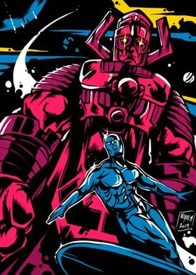 Surfer And Galactus