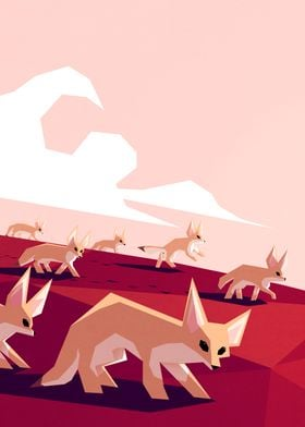 Desert foxes on the prowl