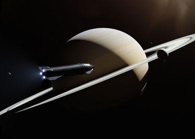 Starship And Saturn