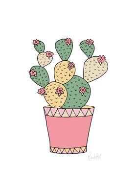 Cactus on pot 4