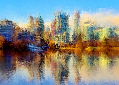 Urban Lake View