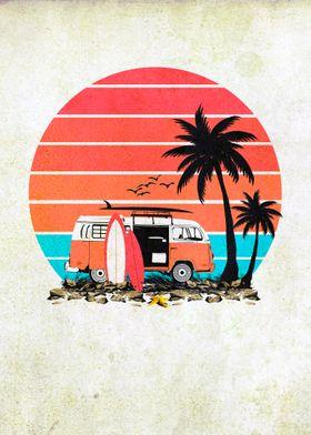Vintage Beach Van Life