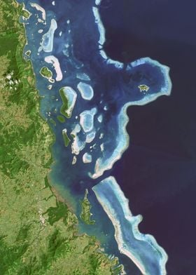 Coral reef from space