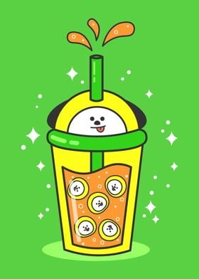 Bt21 Chimmy Bubble Tea Poster Print By Pandalyssa Displate Chimmy bt21 is jimin's baby but jimin also a baby in bts. bt21 chimmy bubble tea