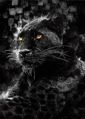 Black Panther Golden eyes