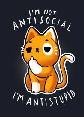 Antisocial cute Cat