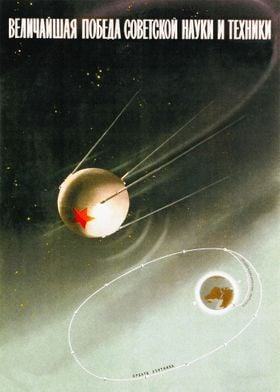 Soviet Space poster propag