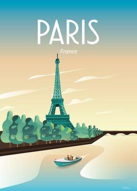 Paris france trave poster