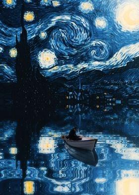 Starry Night Reflection