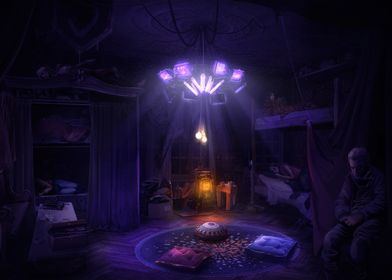 Bedroom during the Night