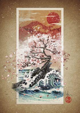 sakura blossom waves