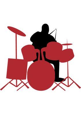 Man on Drums