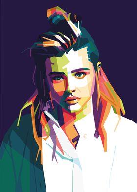Chloe Moretz Pop Art