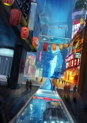 Scifi Futuristic city