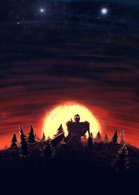 The Iron Giant Sunset