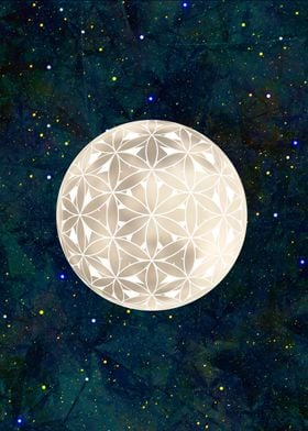 Flower of Life Moon