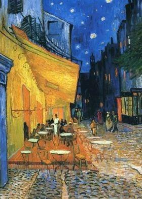 Van Gogh Terrace at Night