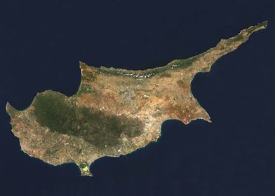 Cyprus Satellite Map