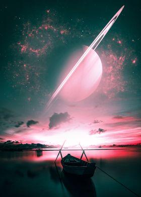 Saturn Abstract Art