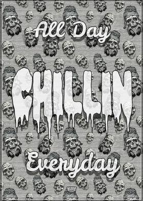 Chillin Music Skull Beanie
