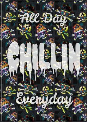 Chillin Rad Skull Pattern
