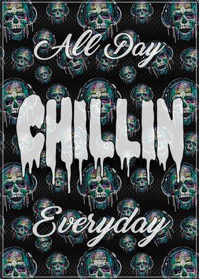 Chillin Skull Pattern Bl