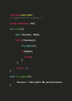 Algorithm of success 2 C++