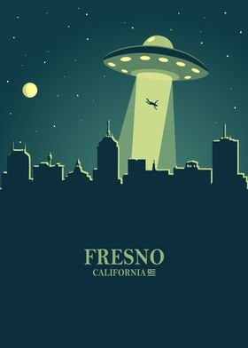 Fresno city Skyline Ufo